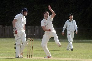 Harry Staight was among the wickets for West Wittering against RMU / Picture by Kate Shemilt