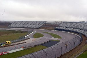The open air stands at Rockingham Speedway