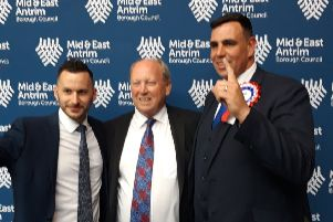 Timothy Gaston and Stewart McDonald pictured with party leader, Jim Allister.