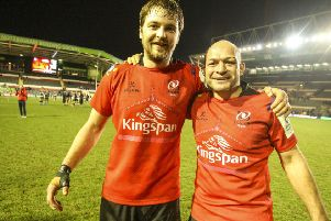 Ulster's Iain Henderson (left) and Rory Best