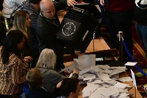 Counting taking place at Belfast City Hall on Friday