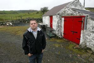 Sammy Heenan, at his remote farm in the hills in Co Down  where his father was murdered by the IRA in 1985