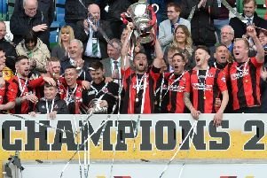 Crusaders celebrate their Irish Cup win