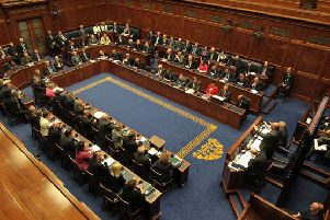 The Stormont assembly chamber. MLAs have not been sitting since January 2017, when Sinn Fein brought down devolution