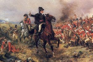 Artist Robert Alexander Hillingford's depiction of the Duke of Wellington at Waterloo