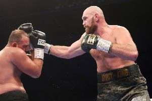 Tyson Fury on the attack