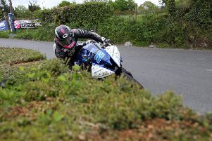 Paul Jordan on his 600 Yamaha at the Cookstown 100.
