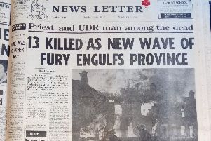 How the News Letter reported the first of three nights of violence across NI which saw 24 people killed - ten of them shot by British troops in the Ballymurphy area of west Belfast.