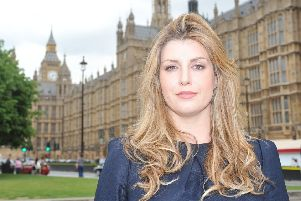 Penny Mordaunt outside the Houses of Parliament in central London. Photo: Ian Nicholson/PA Wire