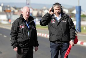 North West 200 Event Director Mervyn Whyte (left) with Clerk of the Course, Stanleigh Murray. Picture: Stephen Davison/Pacemaker Press.