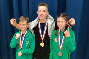 West Hill Boxing Club trio William White, Ben Moore and Lily Ramshaw