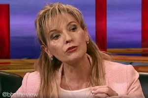 Sinn Fein candidate Martina Anderson on the BBC's The View last Thursday, telling Mark Carruthers that she 'is going to vote within the pro-Remain family' when it comes to transfer votes