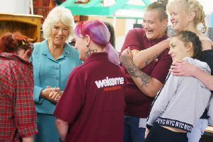 Duchess of Cornwall visits the Welcome Centre