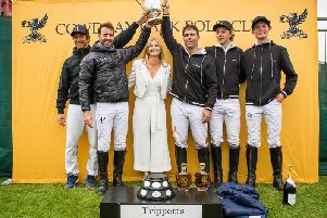 The Trippetts Cup is presented to La Indiana by Clare Milford-Haven / Picture by Clive Bennett - www.polopictures.co.uk