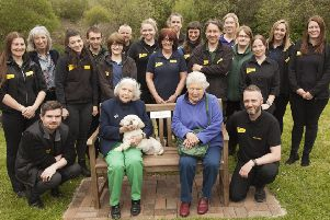 Rose McIlrath - one of the longest serving Dogs Trust trustees   - with the Ballymena Dogs Trust team who held a retirement event in her honour.