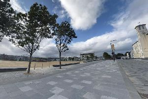The alleged incidents occurred outside a music festivalin the area of Ebrington Square. Pic: Google