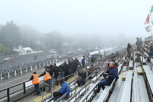 Poor weather has thwarted Tuesdays schedule at the Isle of Man TT.