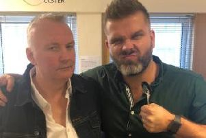 BBC broadcaster, Stephen Nolan (left) pictured with fellow broadcaster and friend, Vinny Hurrell. (Photo: Stephen Nolan/Twitter)