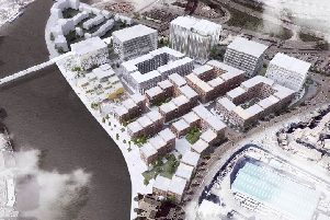 A computer-generated image of how The Waterside development might look. Image: Henning Larsen