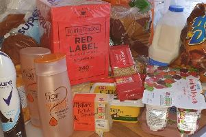 The groceries supplied by Sainsbury's.