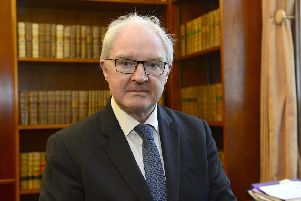 The Lord Chief Justice for Northern Ireland Sir Declan Morgan pictured at Belfast High Court .'Picture By: Arthur Allison/Pacemaker Press