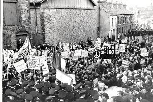 Duke Street, Londonderry, 1968, sometimes seen as the start of the Troubles. Sir Declan, then aged 16, wanted to be there