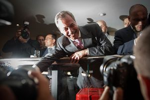 Nigel Farage on Friday, June 24, 2016, as he claimed victory in the Brexit referendum. Three years on, and now with a new party, he looks set to be a thorn in the two parties' sides for some time