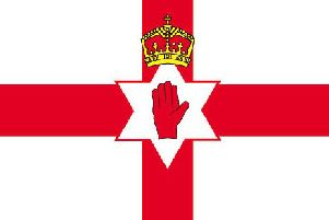 The Ulster Banner, often used to represent Northern Ireland