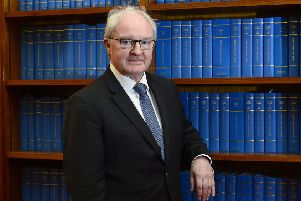 The Lord Chief Justice of Northern Ireland Sir Declan Morgan pictured at Belfast High Court before his interview with the News Letter in May 2019.' Picture by Arthur Allison/Pacemaker Press