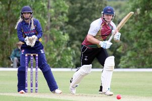 Banbury's Ed Phillips makes another single against Tring Park at White Post Road. Photo: Steve Prouse