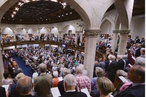 An image, taken from the Presbyterian Church's Twitter feed, of attendees at the general assembly last week. The Assembly was told fewer than 60 were aged in their 20s or younger