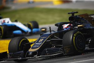 Romain Grosjean in action during Sunday's Canadian Grand Prix NNL-191106-160631002