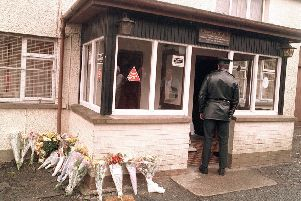 The scene at the Heights Bar in Loughinisland following the 1994 UVF atrocity