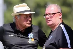 Posh director of football Barry Fry (left) and current Gillingham manager Steve Evans have been active in the transfer market. Photo: Joe Dent/theposh.com.