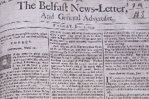 The Belfast News Letter of June 1 1739 (June 12 in the modern calendar)