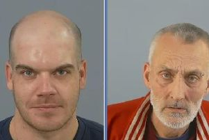 James Frampton, left, and Michael Purkiss have been jailed. Picture: Hampshire Constabulary