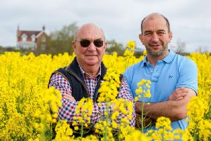 Farmers Mark and Richard Chandler at Moor Farm
