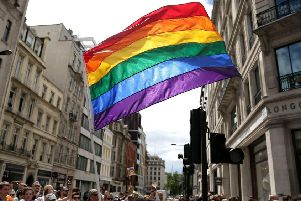File photo dated 25/06/2016 of a rainbow flag, used to represent lesbain, gay, bisexual and transgender (LGBT) issues