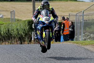 Derek Sheils capped a Superbike double with victory in the Grand Final at the Kells Road Races in Co Meath on Sunday. Picture: Pacemaker Press.
