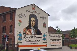 Image from Google showing the  William 'King Billy' mural, on Sandy Row