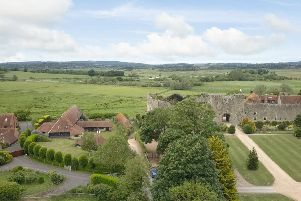 The Great Barn is in the shadow of Amberley Castle