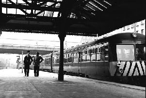 October 1964 - Interior image of the Great Northern Railway Station at Foyle Road.