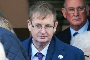 Victims Campaigner Willie Frazer Church and memorial service at West Kirk Presbyterian Church on the Shankill Road in west Belfast to mark the 25th anniversary of the Shankill bomb in which nine people died when the IRA planted a bomb in Frizzell's fish shop. One of the two IRA men involved also died in the explosion. ''Willie Frazer pictured at the church. ''Picture by Jonathan Porter/PressEye