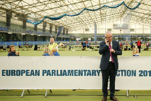 Danny Kennedy, the Ulster Unionst candidate for MEP, at the European election count in late May. His failure to win suggested that unionist voters are very pro Brexit, yet this is a view that is neglected or under represented in influential circles