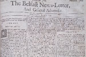 The Belfast News Letter of June 8 1739 (June 19 in the modern calendar)