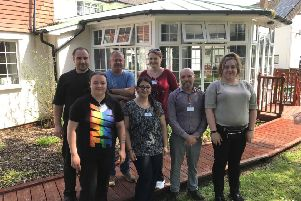 Andrew Dollard (second from right), the registered manager at the Bexhill Care Centre, with staff members