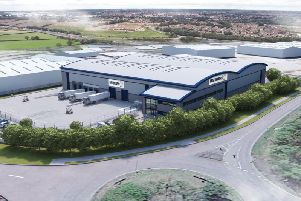An artist's impression of how Barberrys new 9.8 million warehouse development could look in Daventry.