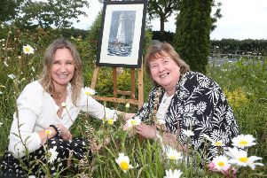 Audrey Kyle and the Mayor, Cllr Maureen Morrow. Photo by McAuley Media.