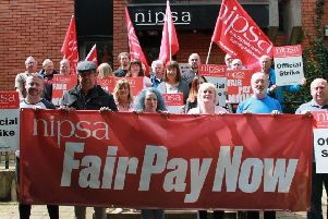 NIPSA Civil Service Group Executive show support for the strike action planned for July 26.