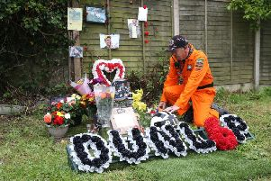 A floral tribute to William Dunlop was unveiled at the Skerries 100 on Saturday, one year on from his tragic death at the event.